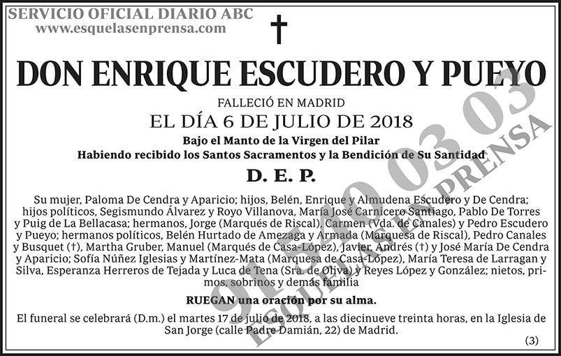 Enrique Escudero y Pueyo